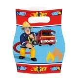 Partytüten, Feuerwehrmann Sam, Geschenktüten, 6 Stück