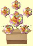 Pooh Flower Luftballons mit Helium, Kindergeburtstag Geschenke, 6 Stück
