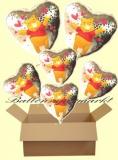 Pooh Holo Luftballons mit Helium, Kindergeburtstag Geschenke, 6 Stück