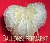 Ringkissen Hochzeitsdeko, Perlen und Schleifen
