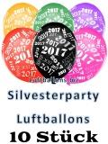 Silvesterparty 2017 Luftballons, 10 Stück