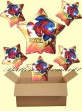 Spiderman Sternluftballons mit Helium, Kindergeburtstag Geschenke, 6 Stück