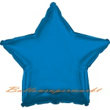 Sternballon, Luftballon aus Folie, Stern, 45 cm, Blau