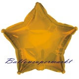 Sternballon, Luftballon aus Folie, Stern, 45 cm, Gold