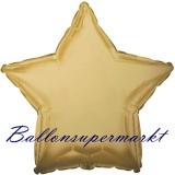 Sternballon, Luftballon aus Folie, Stern, 45 cm, Antik-Gold