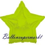 Sternballon, Luftballon aus Folie, Stern, 45 cm, Limonen-Grün