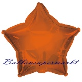 Sternballon, Luftballon aus Folie, Stern, 45 cm, Orange