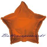 Sternballon, Luftballon aus Folie, Stern, 45 cm, Orange