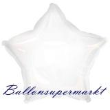 Sternballon, Luftballon aus Folie, Stern, 45 cm, Weiß