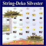 String Deko Happy New Year, Hängedekorationzu Silvester