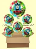 Thomas and Friends Lluftballons mit Helium, Kindergeburtstag Geschenke, 6 Stück