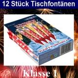 Tischfontäne-Zaubersterne, 12 Stück