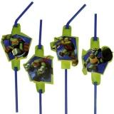 Trinkhalme Ninja Turtles, 8 Stück