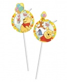 Trinkhalme Winnie the Pooh, Pu Bär Partyhalme zum Kindergeburtstag
