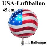 USA Deko-Luftballon aus Folie mit Helium