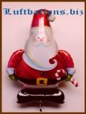 Weihnachtsmann mit Weihnachtsstab, Luftballon mit Helium, Nikolaus, Weihnachtsballon