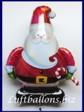 Luftballon zu Weihnachten, Weihnachtsmann mit Weihnachtsstab, Weihnachtsballon