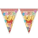 Fahnenkette Winnie the Pooh, Fahnengirlande Kindergeburtstag, Pu der Bär
