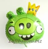 Angry Bird Luftballon aus Folie, Grün
