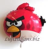 Angry Bird Luftballon aus Folie mit Helium, Rot