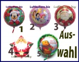 Helium-Set mit Folien-Luftballons, Weihnachten