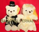 Bärenpaar Hochzeit, Plüsch-Edel, Hochzeitsdeko