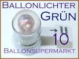 LED Ballonlichter, grün, 10 Stück