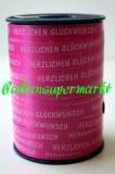 Ballonband 250 m Pink mit Schriftzug Herzlichen Glückwunsch