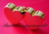Ballongewicht, Gewicht für Helium-Luftballons, Herz, gold