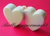 Ballongewicht, Gewicht für Helium-Luftballons, Herz, perlmutt