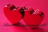 Ballongewicht, Gewicht für Helium-Luftballons, Herz, rot
