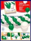 Deko-Set Luftballongirlande, Luftballons in Grün und Weiß