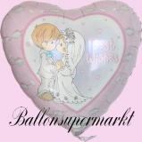 Luftballon zur Hochzeit, Folienballon, Best Wishes, mit Helium