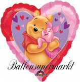 Winnie Pooh Luftballon, Puuh Bär Hug Herzluftballon