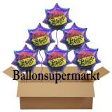 Luftballons aus Folie, Geburtstagsdekoration, Geburtstagsballons mit Helium, Birthday Blast, 6 Stück