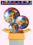 Bob der Baumeister Rundluftballons mit Helium, Kindergeburtstag Geschenke, 3 Stück