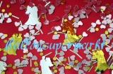 Konfetti Hochzeit, Tischdekoration, Braut und Bräutigam, Herzen und Rundkonfetti