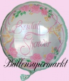 Luftballon zur Hochzeit, Folienballon, Bridal Shower, mit Helium