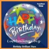 Bubble-Luftballon, Happy Birthday, Brilliant Stars