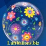 Bubble-Luftballon, Frühlingsblumen