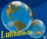 Bubble-Luftballon, Weltkugel, Globus, Erde, inklusive Helium