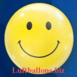 Bubble-Luftballon, Smiley, mit Helium