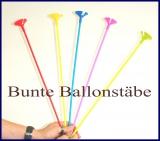 Bunte Ballonstäbe, 2-teilig, Luftballonhalter, Stäbe und Halter für Luftballons, 100 Stück