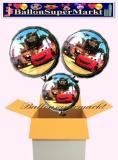 Cars Rundluftballons mit Helium, Kindergeburtstag Geschenke, 3 Stück