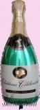 Luftballon zur Hochzeit, Folienballon, Champagnerflasche, mit Helium