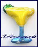 Cocktail-Glas Margarita, Deko-Luftballon aus Folie