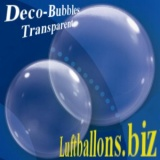 Deko-Bubble-Luftballon, Transparent, Klar