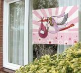 Dekoration zu Geburt und Taufe, Fensterdekoration, Girl