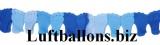 Dekoration zu Geburt und Taufe, Girlande mit Babyfüßchen, Blau