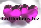 Ballongewicht, Gewicht für Helium-Luftballons, Herz, Pink